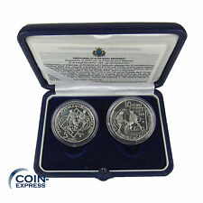 *** 5 + 10 Euro Gedenkmünze San Marino 2004 PP Polierte Platte SILBER KMS ***