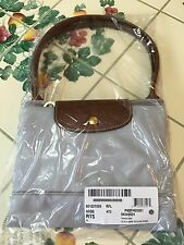 NWT $195 LONGCHAMP Paris Pearl Grey LE PLIAGE EXPANDABLE TOTE Bag Nordstrom Exc.