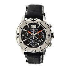Giorgio Fedon 1919 SPACE EXPLORER Silver/Black Watch GFBN002 Clerc Scuba Homage