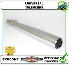 "NEW UNIVERSAL SILENCER CAFE RACER MOTORCYCLE EXHAUST BAFFLE 20"" CHROME CONE"