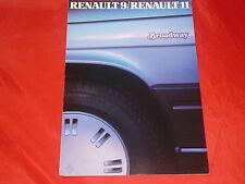 """RENAULT 9 und 11 """"Broadway"""" Sondermodelle Prospekt von 1985"""