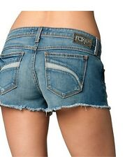 $49 Fox Racing Women's Joyride Short Medium Blue Stone Wash Size 5/27