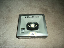 Black Diamond Spot Headlamp 130 Lumens Black AAA Batteries included Brand New!
