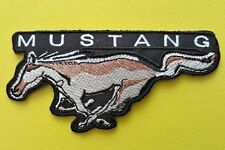 MOTOR RACING CAR SEW ON / IRON ON PATCH:- MUSTANG (a) WILD HORSE