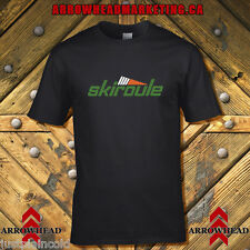 Skiroule vintage snowmobile style t-shirt Black with vents