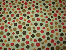 "~10 YDS~P KAUFMANN~POLKA DOTS ""DOTTY DOT"" ~COTTON UPHOLSTERY FABRIC FOR LESS~"