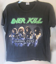 VTG 80s~OVER KILL~TOUR 1987T-SHIRT~TAKING OVER~WRECKING YOUR HEAD AUTHENTIC ORIG