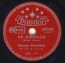 Georges BRASSENS: le gorille/la chasse aux petits 78 rpm
