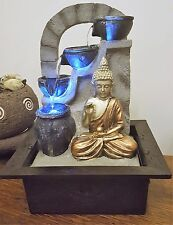 Indoor Buddha Water Pump Feature Fountain Led Colour Light buddah NEW