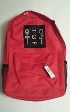 21 Twenty One Pilots Backpack Blurryface Red Clique Logo Red Hot Item Sold Out