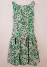 NWT DIANE VON FURSTENBERG Floral Print Arabesque Sateen Dress Size 2, Orig. $525