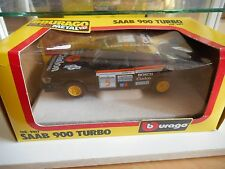 "Bburago burago Saab 900 Turbo ""Clarion"" in Black on 1:24 in Box"