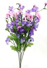 "COSMOS Flower Bush. Purple, Pink, Lavender Blooms. Artificial.  24"" Tall."