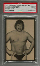 1973 Wrestling Annual #6 Lars Anderson Hand Cut PSA 9 MINT Card