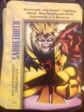 Marvel Overpower IQ Sabretooth Government Operative NrMint-Mint Card