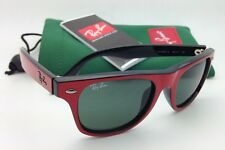 Junior Collection Kids Ray-Ban Sunglasses JR 9035-S 162/71 Red & Black w/ Green