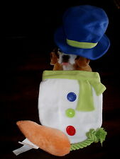 Dog SNOWMAN COSTUME M L New 3pc TOP HAT SUIT Carrot Pull Toy PET M/L Snow