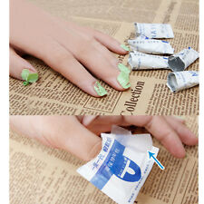 10Pcs Remover Wraps Wet Paper UV Soak Off Gel Polish Pad Foil Nail Art Cleaner
