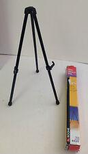 "Tabletop Easel ACCO Boone black steel #6420  13 3/4"" presentations art show"
