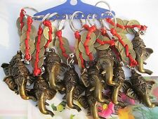Lucky Ganesha Key Chain - God Ganesh Ji Fengshui Coins Keyrings -A Lot of 10 Pcs
