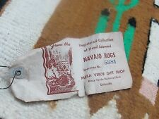 Vintage Old  Yei Navajo Native American Colorado Indian Rug Textile weaving wool