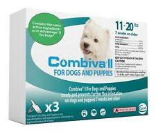 Combiva II for Dogs 11-20 lbs 3pack Fleas same ingredients as Advantage II