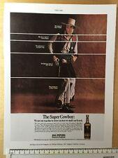 """Vintage colour advert 1967: 11"""" x 8"""" (28cm x 20cm) 100 Pipers Scotch Reprint"""
