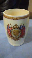 VERY RARE GV GEORGE V 1935 SILVER JUBILEE WANDSWORTH TOWN HALL BREAKFAST BEAKER