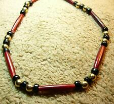 Native American Indian - ***Man Beads!!!***  Long Red Buffalo Bone Necklace