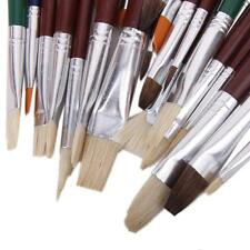 25PCS Brush Value Set For Oils Acrylic Watercolor Art Craft Supplies NEW