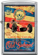Zippo Old School Vintage Race Club 4th Gear Racers Poster Street Chrome Lighter