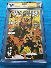 Wolverine #35 - Marvel - CGC SS 9.4 NM - Signed by Larry Hama