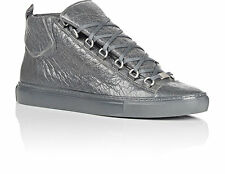 Balenciaga Mens Shoes Arena 341760 Gray Gris Fume Hightop Sneakers Sz 39 US 6
