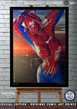 Sexy SpiderGirl, Ripped N Torn -  Special Edition Original Comic Art A3 Print
