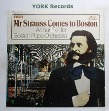 ARTHUR FIELDER & THE BOSTON POPS - Mr Strauss Come To Boston - Ex LP Record RCA