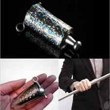 FUNNY APPEARING CANE METAL SILVER MAGIC TRICKS CLOSE UP ILLUSION SILK TO WAND