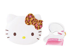 NEW AUTHORIZED SANRIO HELLO KITTY DIE CUT COMPACT MIRROR & COMB SET lepard