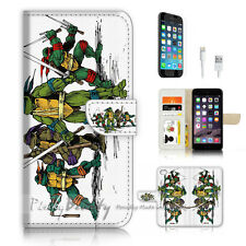 iPhone 7 PLUS (5.5') Flip Wallet Case Cover P3370 TMNT Ninja Turtle