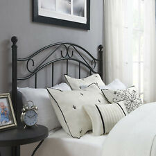 Traditional Metal Headboard Full/Queen Size Bed Frame Furniture Black
