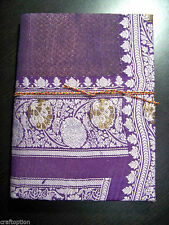 BROCADE COVER HAND MADE PAPER ECO FRIENDLY  JOURNAL/DIARY FROM INDIA!!