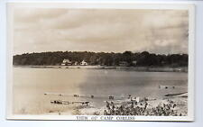 Battle Lake MN View Of Camp Corliss Real Photo Postcard @1940