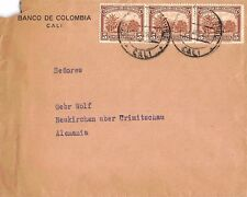 Brief Correos de Colombia 5 Cinco Centavos Banco de Colombia Cali 1937