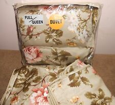 Luxury NEW 3pc Ralph Lauren YORKSHIRE ROSE QUEEN DUVET Comforter Cover Shams SET