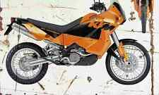 KTM 950 Adventure 2003 Aged Vintage SIGN A4 Retro