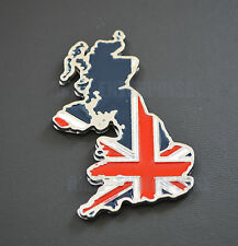 Chrome Metal Union Jack Brexit Britain Badge Sticker Emblem for Cars Motorcycle