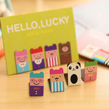 New 4Pcs Bookmarks Note Pad Memo Stationery Book Mark Novelty Funny Gift