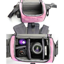 Camera Bag Case F Canon Rebel T5i T4i T3i T2i EOS 700D 650D 600D 550D DSLR pink