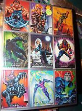 1992, 1993, 1994, MARVEL MASTERPIECES COMPLETE CARD SETS X-MEN JOE JUSKO + FREE