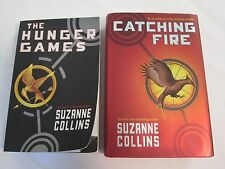 Lot of 2 Books Hunger Games Paperback Catching Fire Hardcover Suzanne Collins