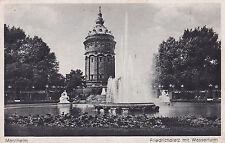 AK Mannheim 1946 Friedrichplatz Wasserturm Brunnen Springbrunnen
